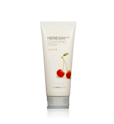 Sữa rửa mặt TheFaceShop Herb Day 365 Cleansing Foam acerola