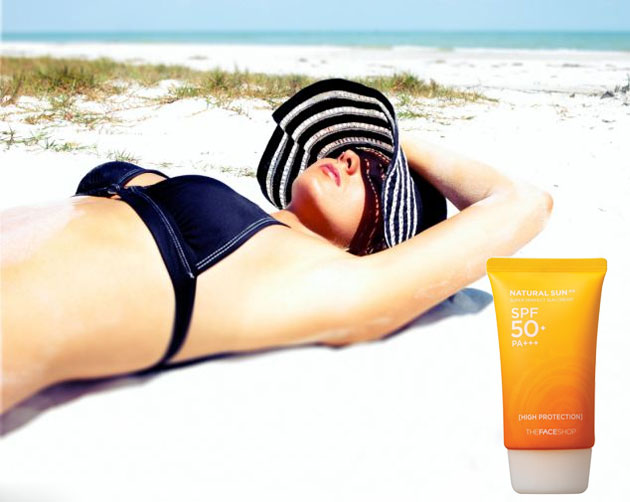 Kem chống nắng TheFaceShop Natural Sun Super Protect Sun Cream - Photo 3