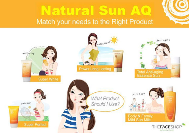 Kem chống nắng TheFaceShop Natural Sun Super Protect Sun Cream - Photo 5