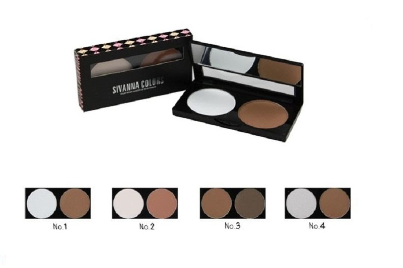 Trang điểm Phấn tạo khối Sivanna Highlight Color Repair Capacity Of Solid Powder - Photo 3