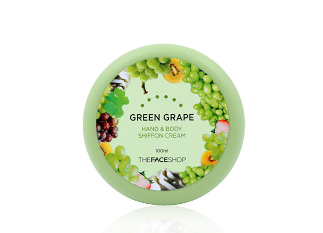 Kem dưỡng thể TheFaceShop Green Grape Hand & Body Shiffon Cream