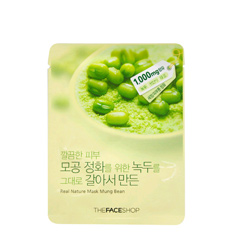Mặt nạ TheFaceShop Real Nature Mask Sheet Mung Bean