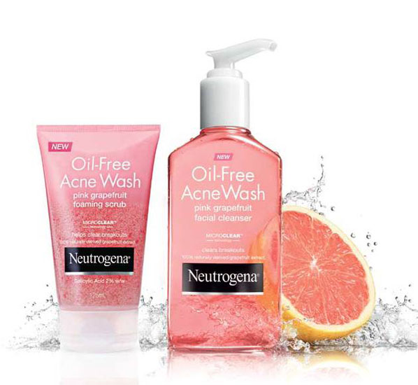 Sữa Rửa Mặt Trị Mụn Neutrogena Oil-Free Acne Wash Pink Grapefruit Foaming Scrub - Photo 4