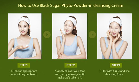 Kem tẩy trang TheFaceShop Phyto Powder In Cleansing Cream Black Sugar - Photo 3