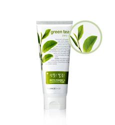 Sữa rửa mặt trà xanh TheFaceShop Green tea phyto powder in cleansing foam