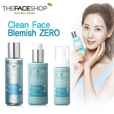 Nước hoa hồng TheFaceShop Clean Face Blemish Zero Clarifying Toner - Photo 3