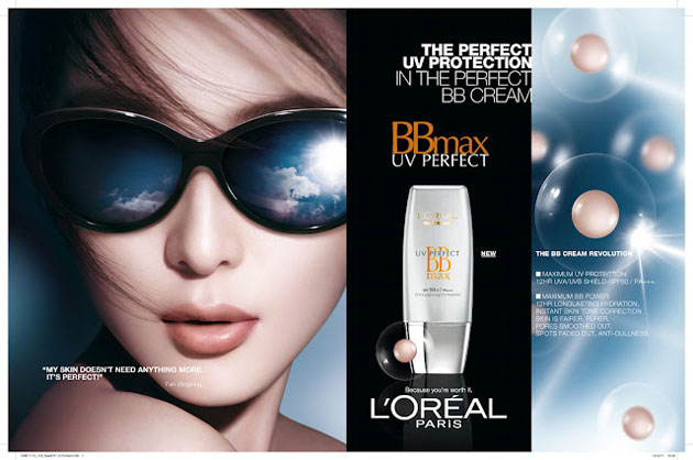 Kem lót chống nắng Loreal UV Perfect BB Max Cream - Photo 3