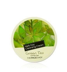 Kem tẩy trang THEFACESHOP - Herb Day Cleansing Cream Green Tea