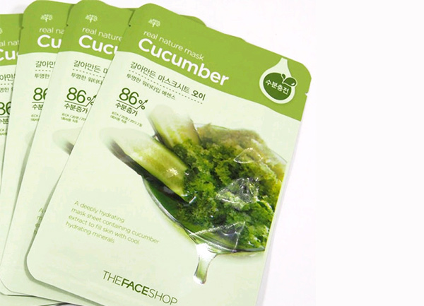 Mặt nạ giấy TheFaceShop Real Nature Mask Sheet Cucumber - Photo 3