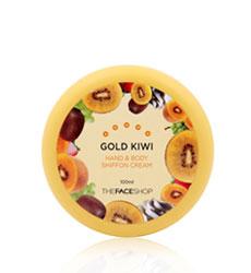 Kem Dưỡng Ẩm Thefaceshop Hand & Body Shiffon Cream Gold Kiwi