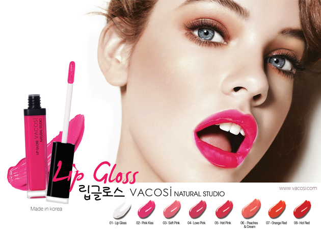 LIP GLOSS NATURAL STUDIO, SON BÓNG DẠNG KEM VACOSI - Photo 3